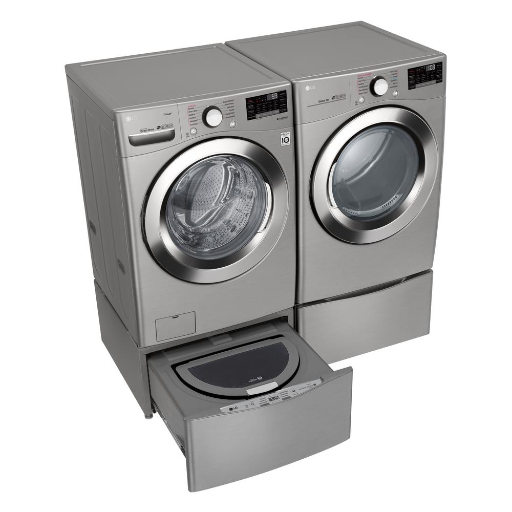 LG Electronics 7 4 cu ft  Ultra Large Capacity Gas Dryer with Sensor Dry  Turbo Steam and Wi-Fi Connectivity in Graphite Steel