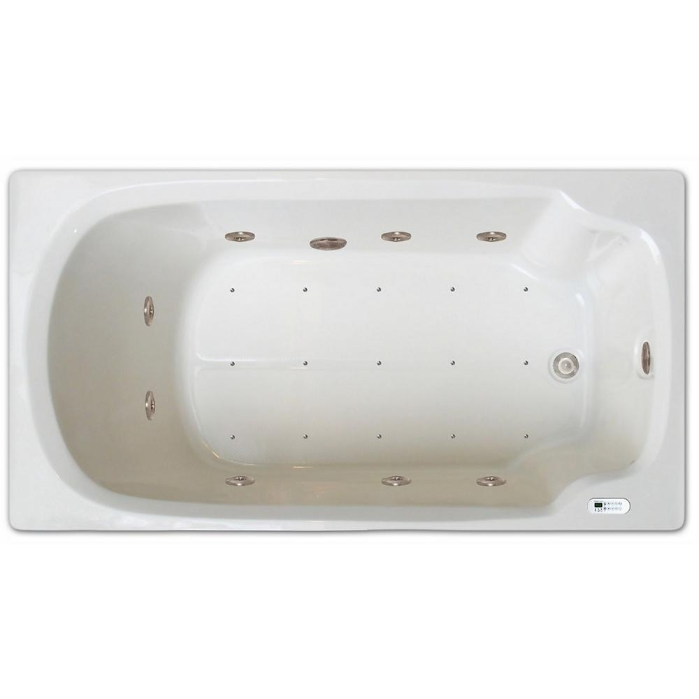 Pinnacle 5 ft. Left Drain Drop-in Rectangular Whirlpool and Air Bath ...