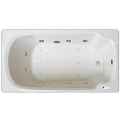 5 ft. Left Drain Drop-in Rectangular Whirlpool and Air Bath Tub in White with Tranquility Package