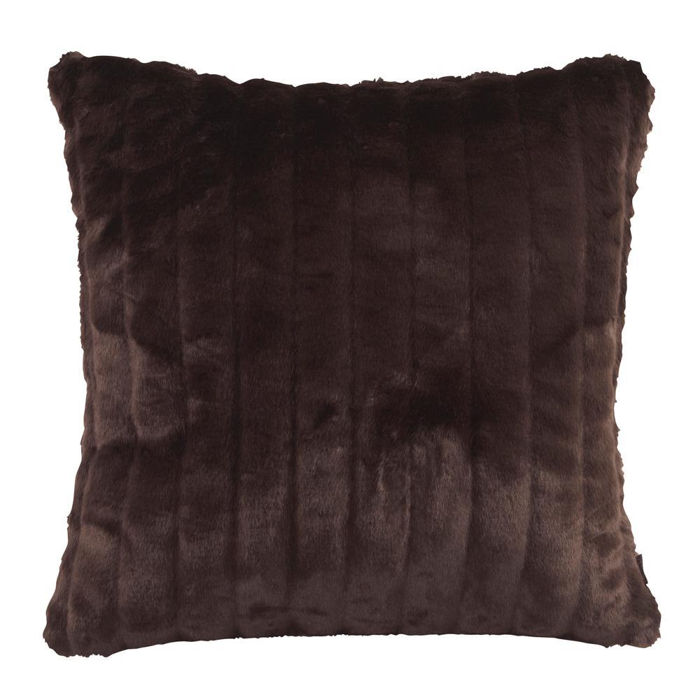 Mink Black 20 in. x 20 in. Decorative Pillow