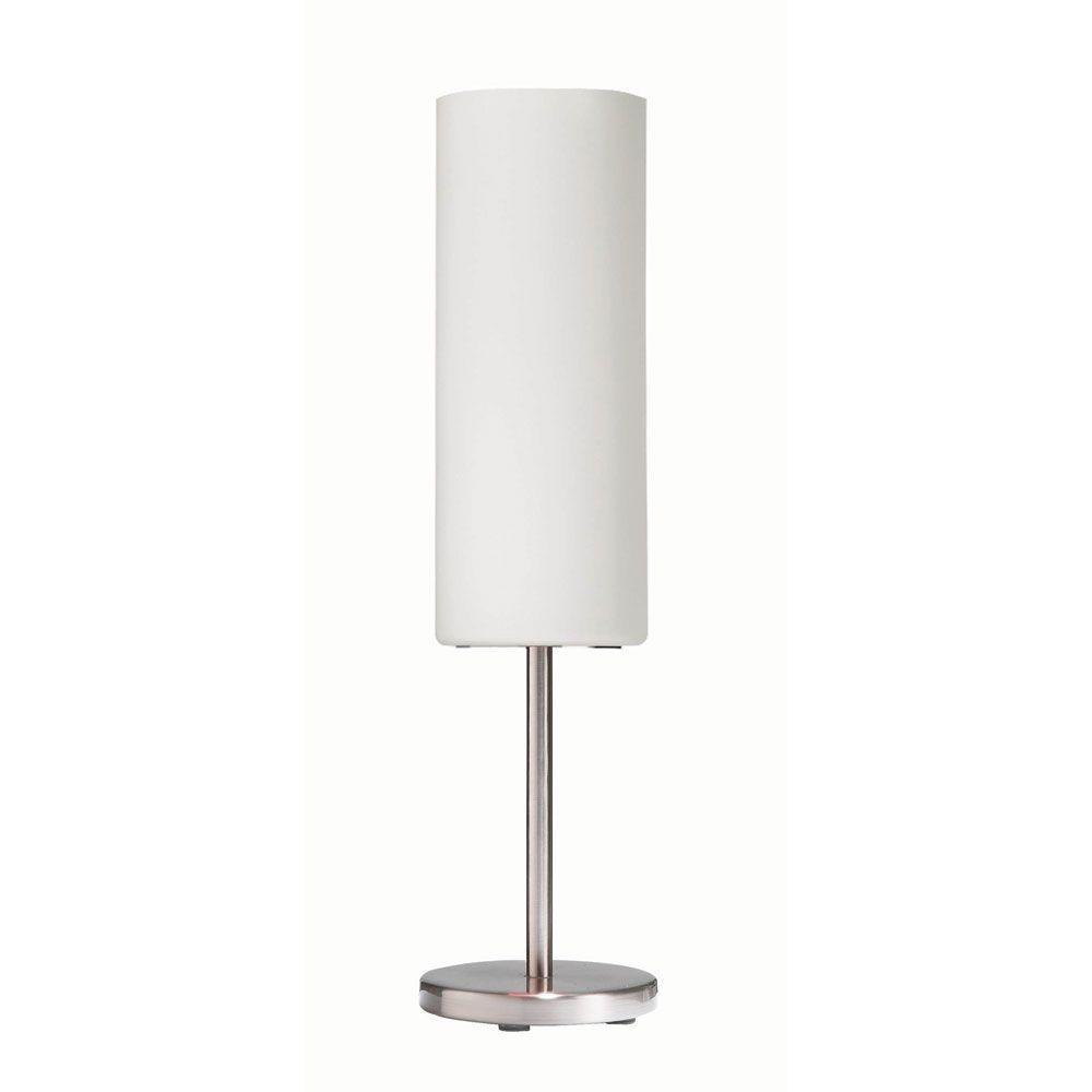 Mikkeli 18 in. Satin Chrome Table Lamp