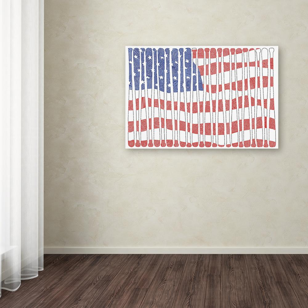 "16 in. x 24 in. ""America's Pastime"" by Viz Art Ink"