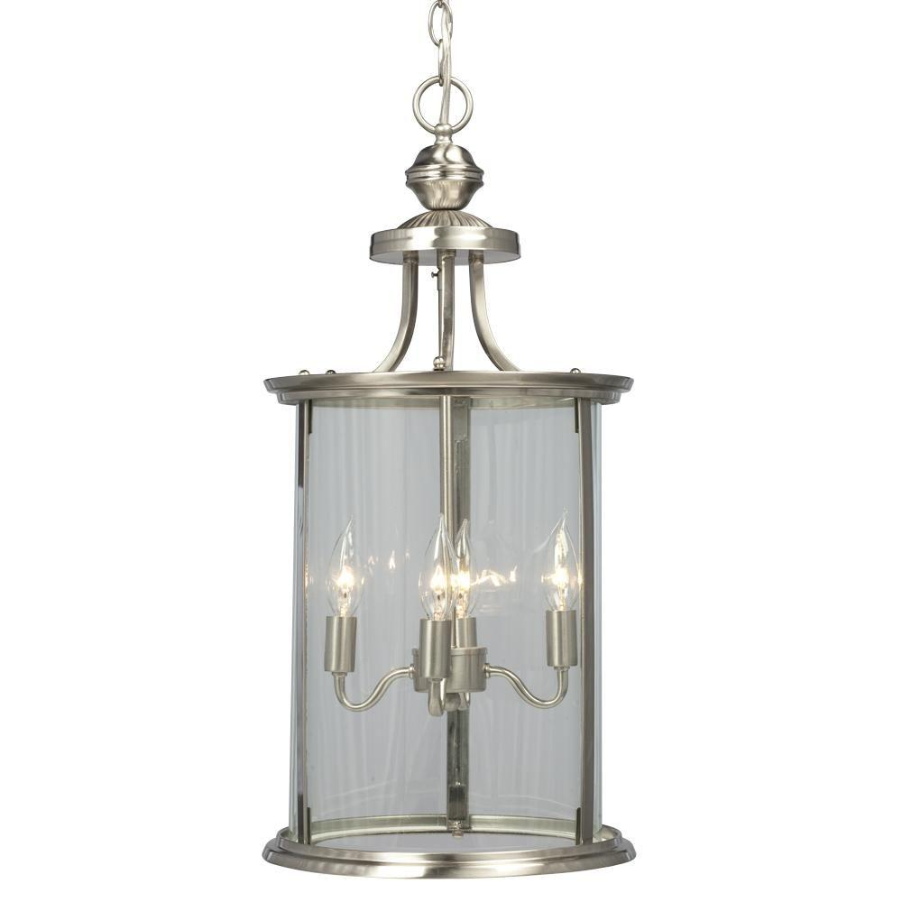 Negron 4-Light Brushed Nickel Incandescent Chandelier