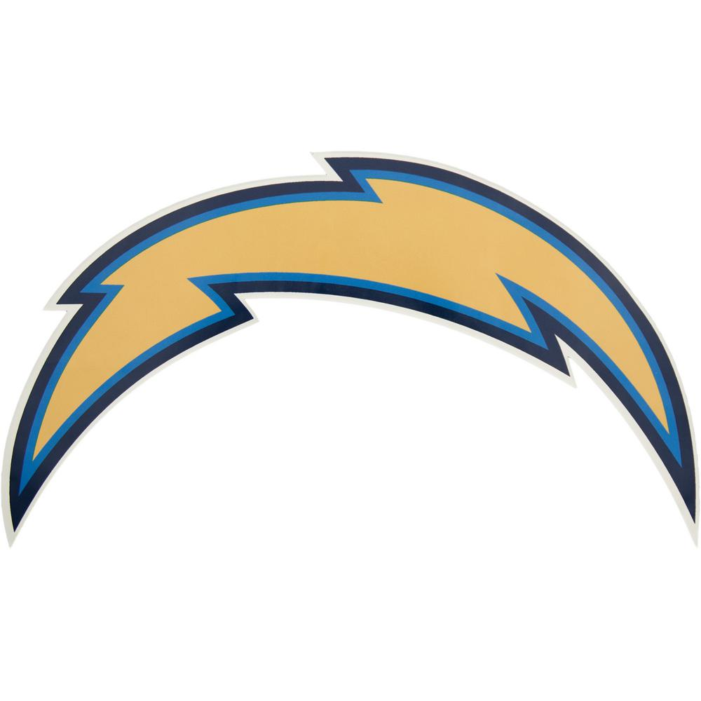 San Diego Chargers Bolt Logo: Applied Icon NFL Los Angeles Chargers Outdoor Logo Graphic