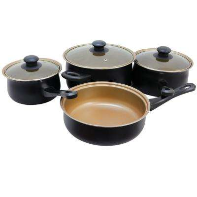 Chef Du Jour 7-Piece Cookware Set with Lids