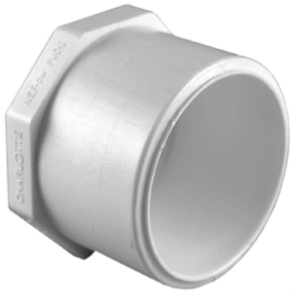 Pvc Sch 40 Plug Sc 1 St The Home Depot Image Number  Inch Pvc Pipe End Cap