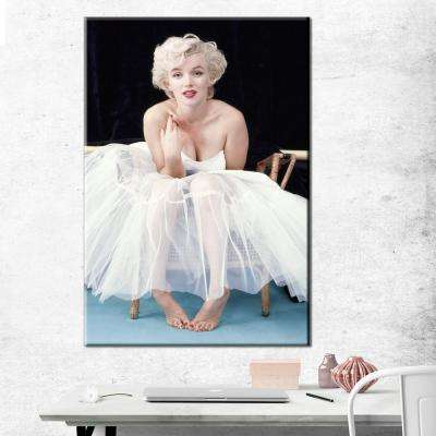 24 in. x 36 in. Marilyn Monroe - Ballerina Color Gallery Wrapped Canvas Wall Art
