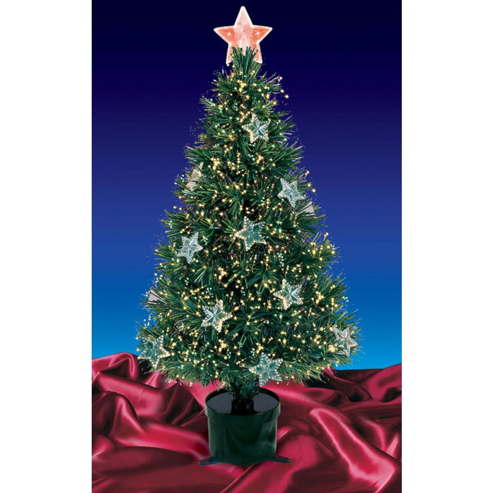 a5cb9fbd510 Northlight 4 ft. Pre-Lit Fiber Optic Artificial Christmas Tree with ...