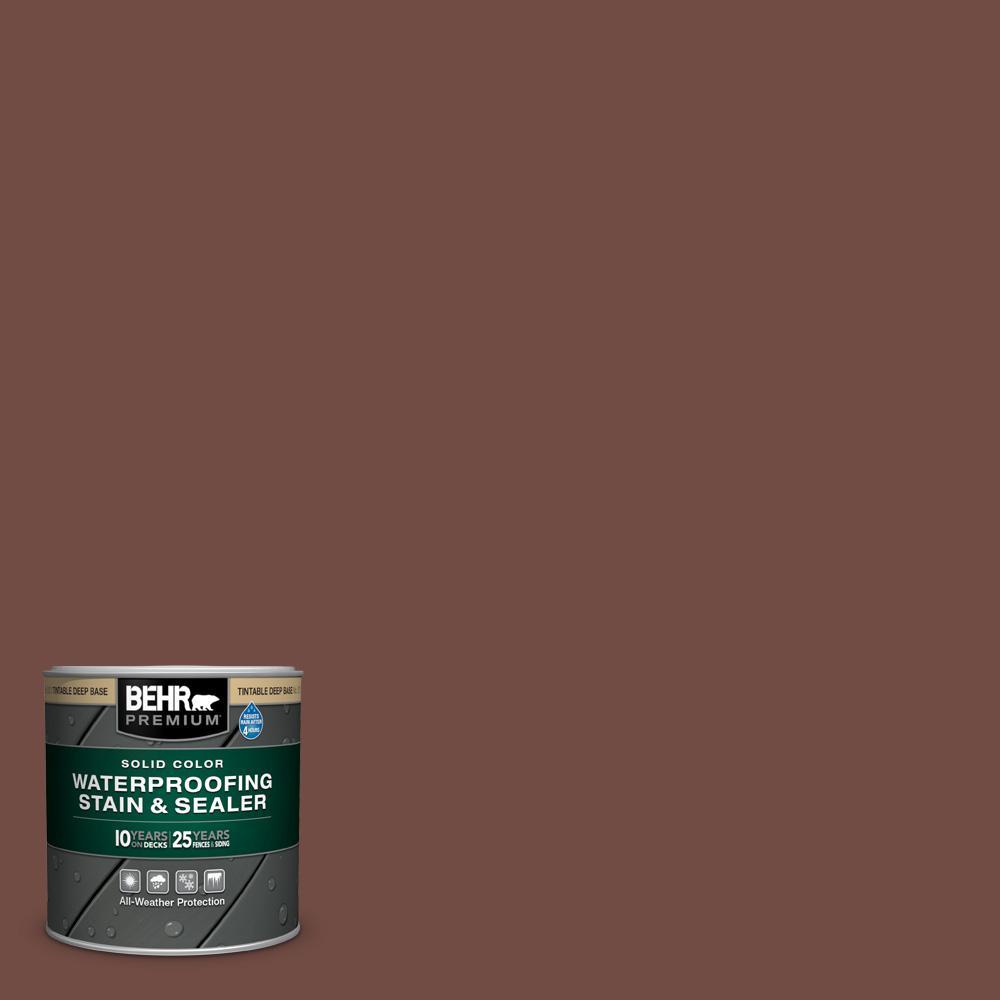 BEHR Premium 8 oz. #SC-123 Valise Solid Color Wood Waterproofing Exterior Wood Stain and Sealer Sample