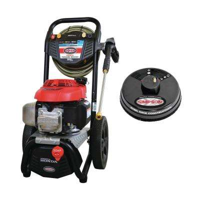 MS60805-S 3000 PSI 2.4 GPM Gas Pressure Washer Powered by HONDA with 15 in. Scrubber and 50 ft. Hose