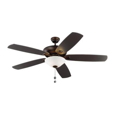 Colony Super Max Plus 60 in. Indoor/Outdoor Roman Bronze Ceiling Fan with Light Kit
