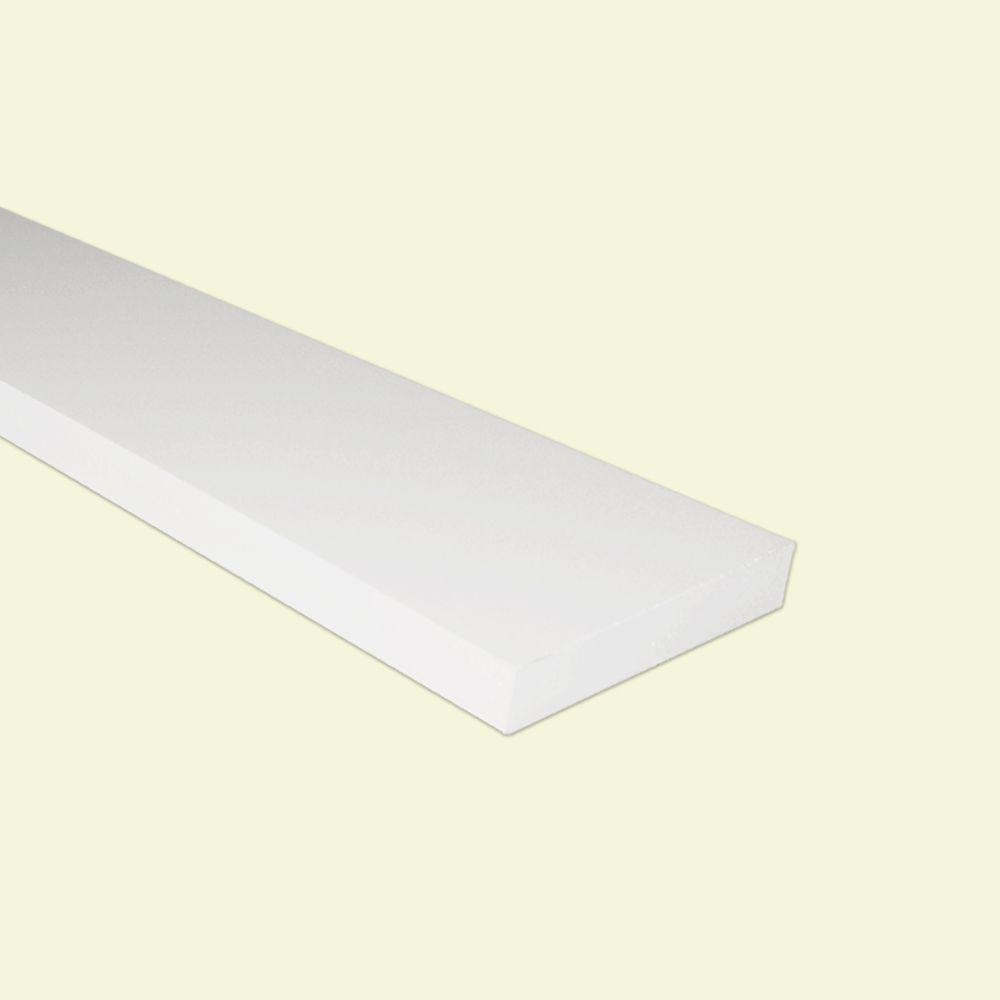 3/4 in. x 4-1/2 in. x 8 ft. Traditional Trim PVC