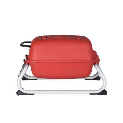 PK Grills Original Portable PKGO Cast Aluminum Charcoal Grill and Smoker in Matte Red