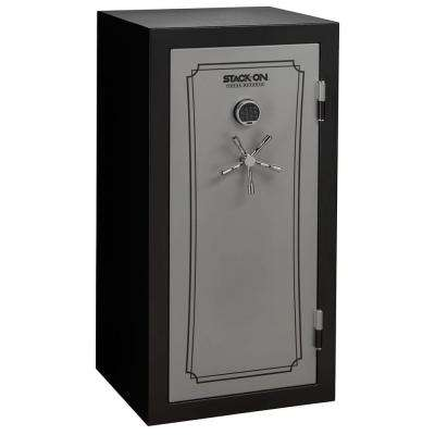 40-Gun Fire/Water Safe with Electronic Lock, Matte Black and Silver