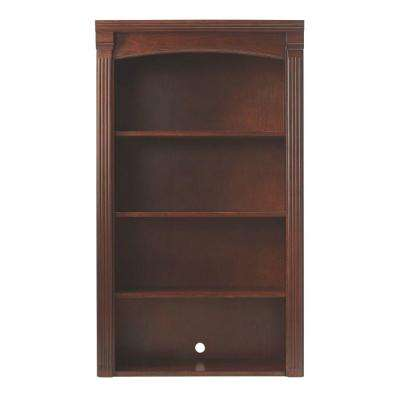 Edinburgh 48 in. H x 28 in. W 4-Shelf Modular Pier Top in Espresso