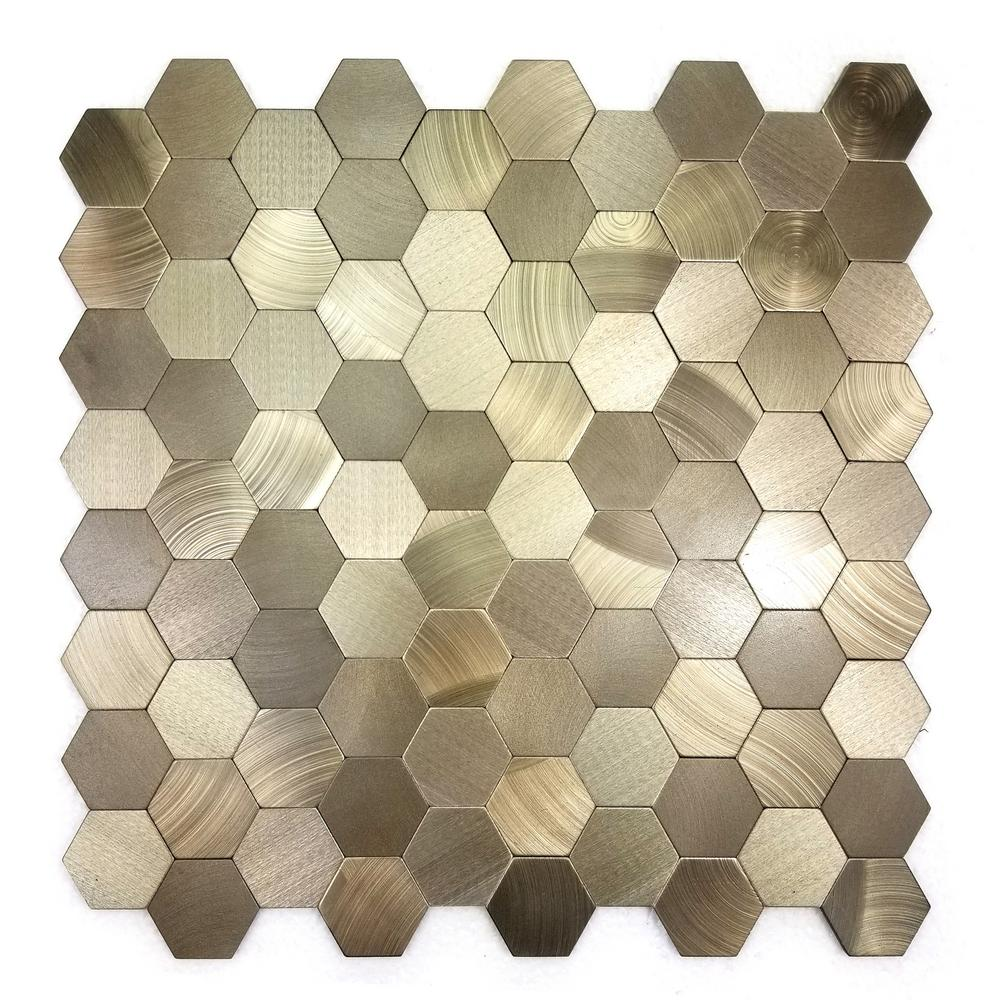 Enchanted Metals 12 in. x 12 in. Copper Aluminum Hexagon Peel