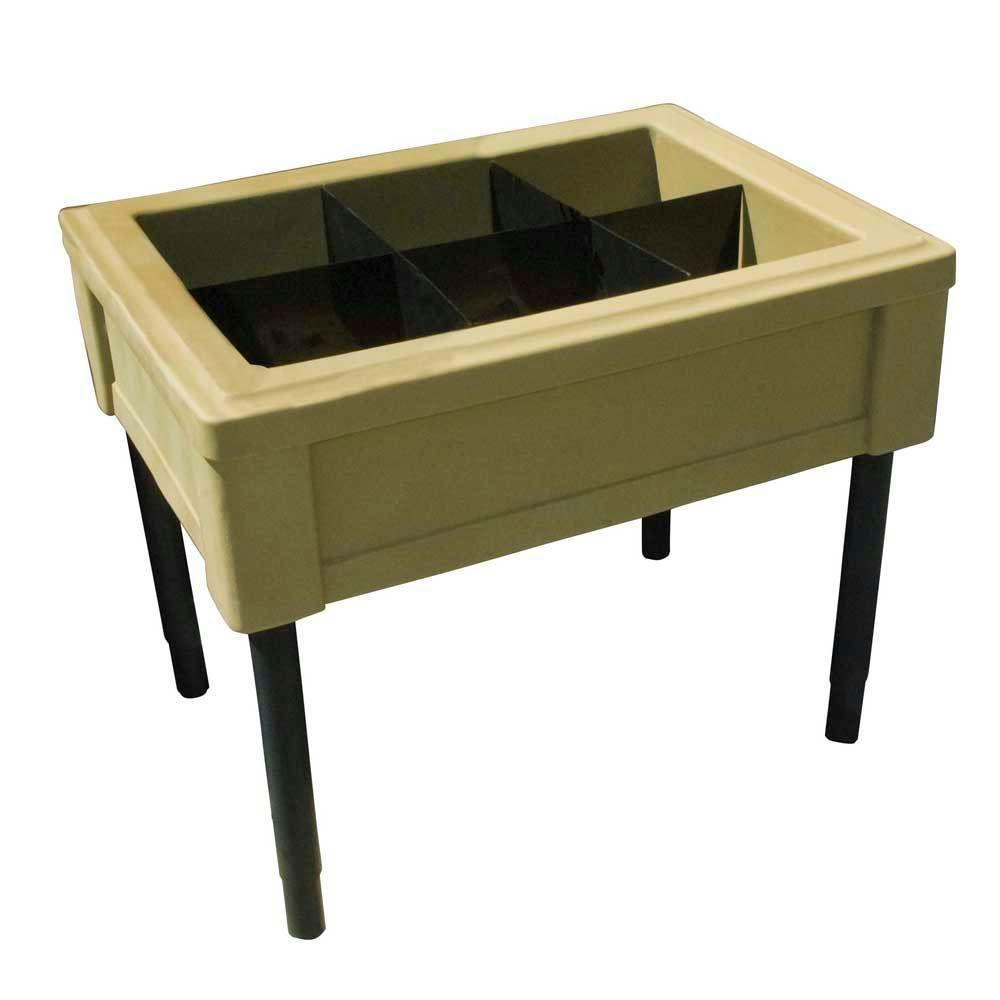 RTS Home Accents Elevated Garden Table with Oak Brown Fixed Legs