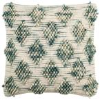 Space Dyed Space Dyed Geometric Down Alternative 20 in. x 20 in. Throw Pillow