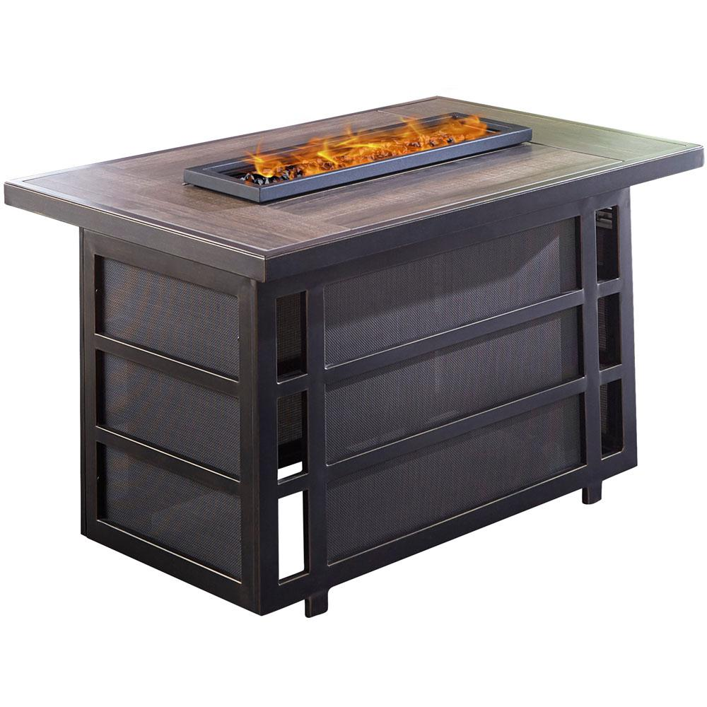 Hanover Chateau Aluminum Outdoor Coffee Table With Fire