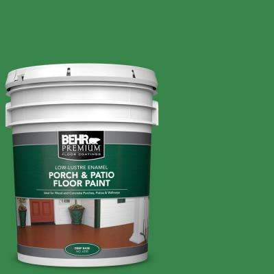 5 gal. #450B-7 Green Grass Low-Lustre Enamel Interior/Exterior Porch and Patio Floor Paint