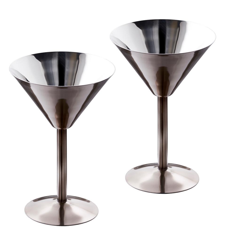 Danesco Stainless Steel Martini Glasses Set Of 4