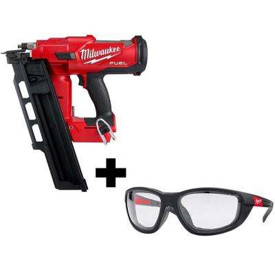 M18 FUEL 3-1/2 in. 18-Volt 21-Degree Lithium-Ion Brushless Cordless Framing Nailer with High Performance Safety Glasses