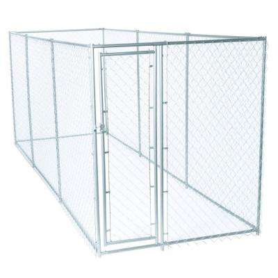 6 ft. H x 5 ft. W x 15 ft. L or 6 ft. H x 10 ft. W x 10 ft. L - 2 in 1 Galvanized Chain Link Dog Kennel PC Frame Box Kit