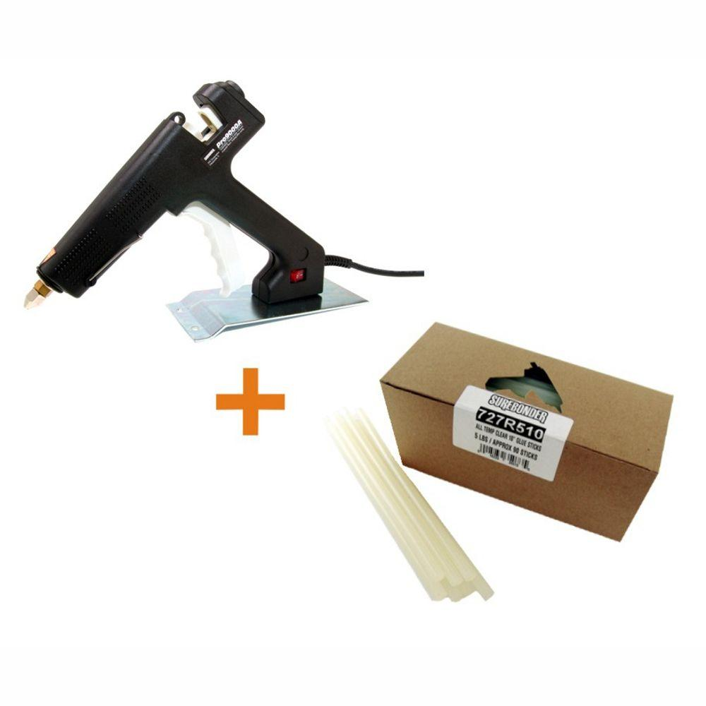Surebonder 7/16 in. D x 10 in. L All Purpose High Temperature Industrial Glue Gun with Glue Sticks (5 lb. per Box)