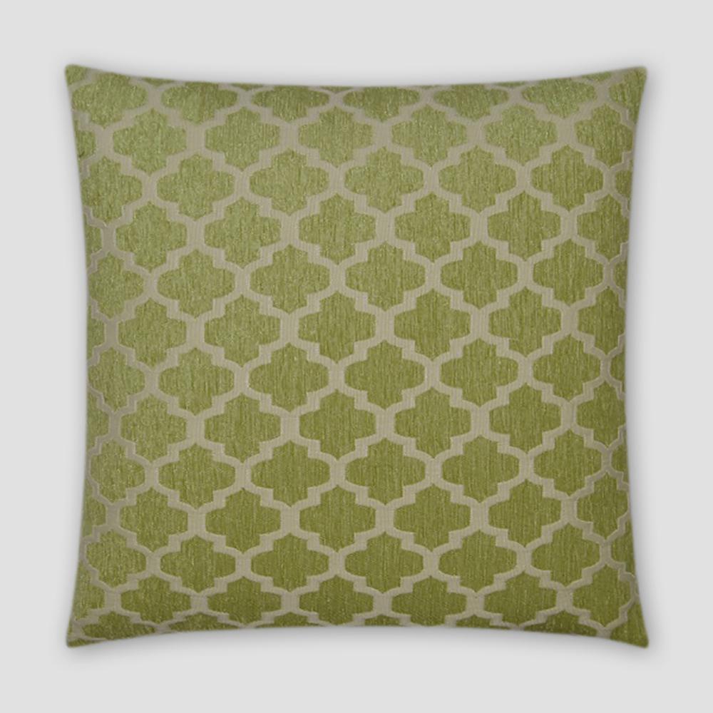 Keaton Green Geometric Down 18 in. x 18 in. Throw Pillow