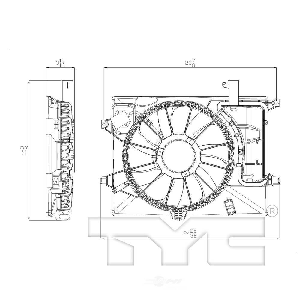 New Engine Radiator Cooling Fan Assembly Fits For 2011 2013 Hyundai Elantra Us Krbr Ae