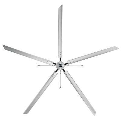 Titan 18 ft. 220-Volt Indoor/Outdoor Anodized Aluminum Single Phase Industrial Ceiling Fan