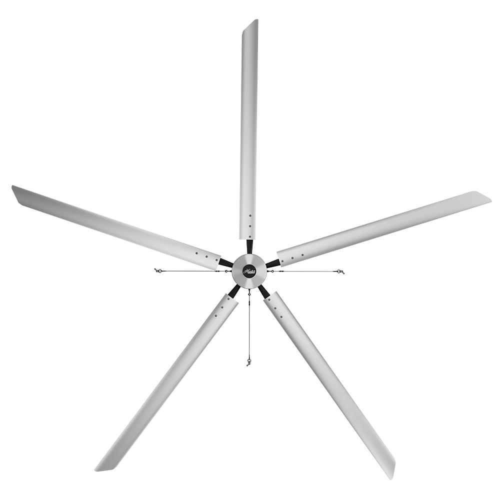 Large Ceiling Fan Industrial: Big Ass Fans 2025 7 Ft. Indoor Yellow And Silver Aluminum