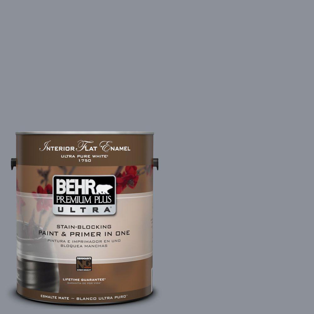 BEHR Premium Plus Ultra 1-gal. #UL260-20 Dark Pewter Interior Flat Enamel Paint
