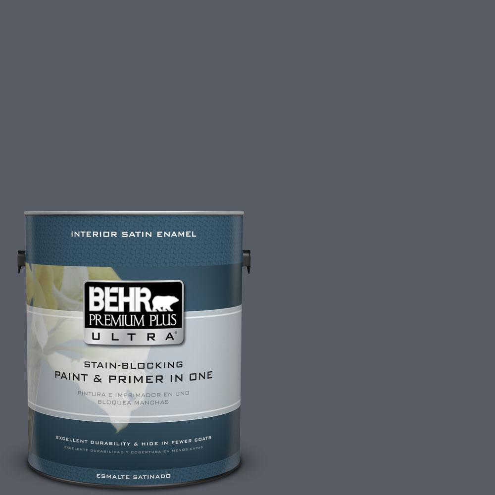 BEHR Premium Plus Ultra 1-gal. #760F-6 Distant Thunder Satin Enamel Interior Paint