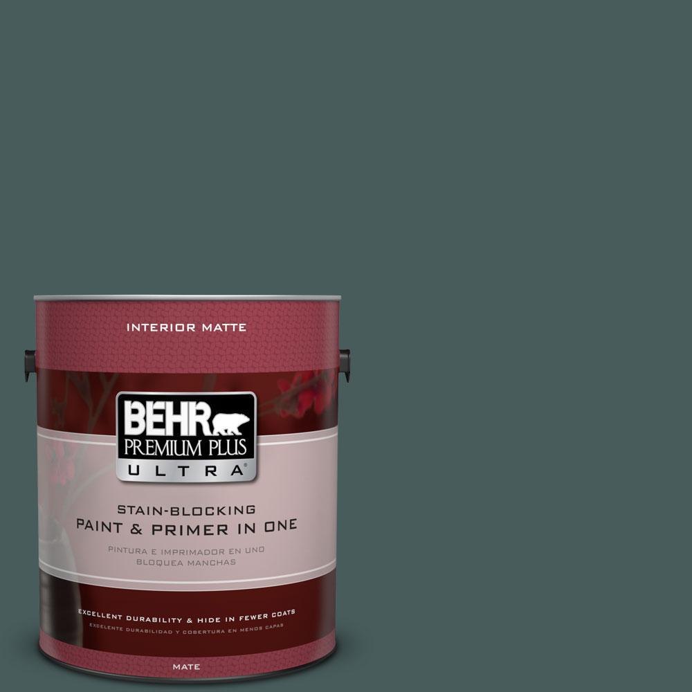 BEHR Premium Plus Ultra 1 gal. #N430-7 Silken Pine Matte Interior Paint