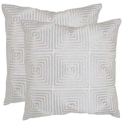 Lacie Embroidered Geometric Pillow (2-Pack)