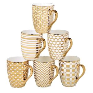 Gold Plated 16 oz. Tapered Mug (Set of 6) by