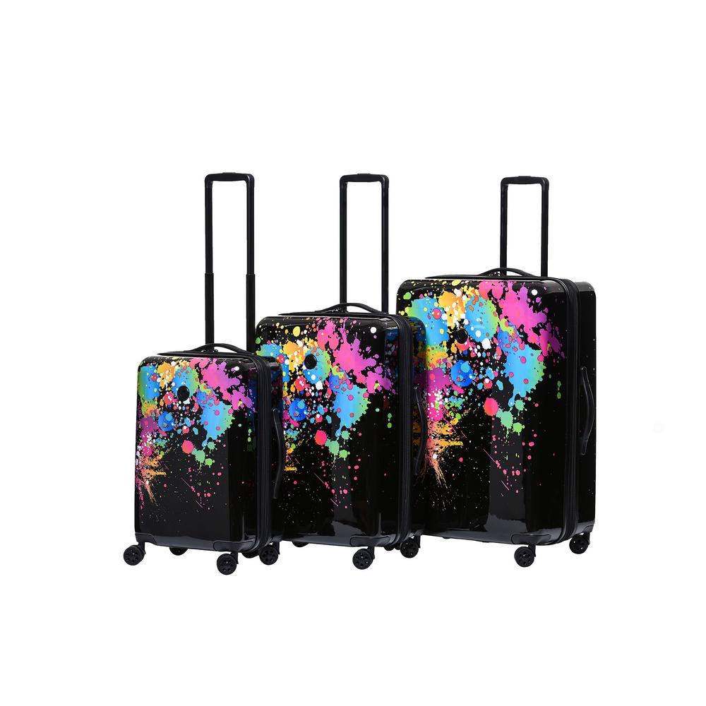 Bursts 3-Piece Hardside Spinner Luggage Set