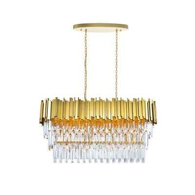 Deco 9-Light Medallion Gold Contemporary Chandelier