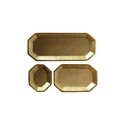Gold Metal Trays (Set of 3)