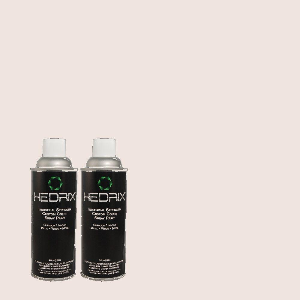 Hedrix 11 oz. Match of 130E-1 Glaze White Semi-Gloss Custom Spray Paint (2-Pack)