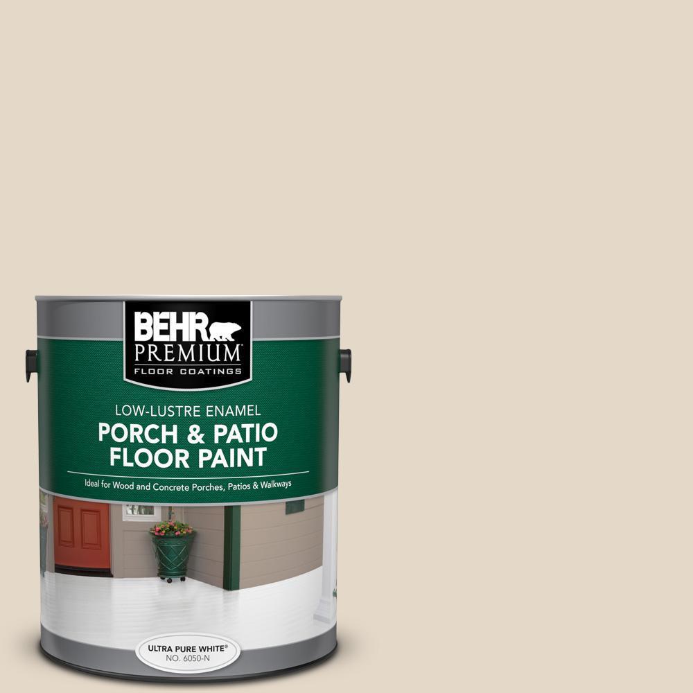 BEHR Premium 1 gal. #ECC-51-2 Sand Castle Low-Lustre Enamel Interior/Exterior Porch and Patio Floor Paint
