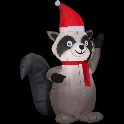 3.5 ft. Airblown Inflatable Pre-lit Raccoon