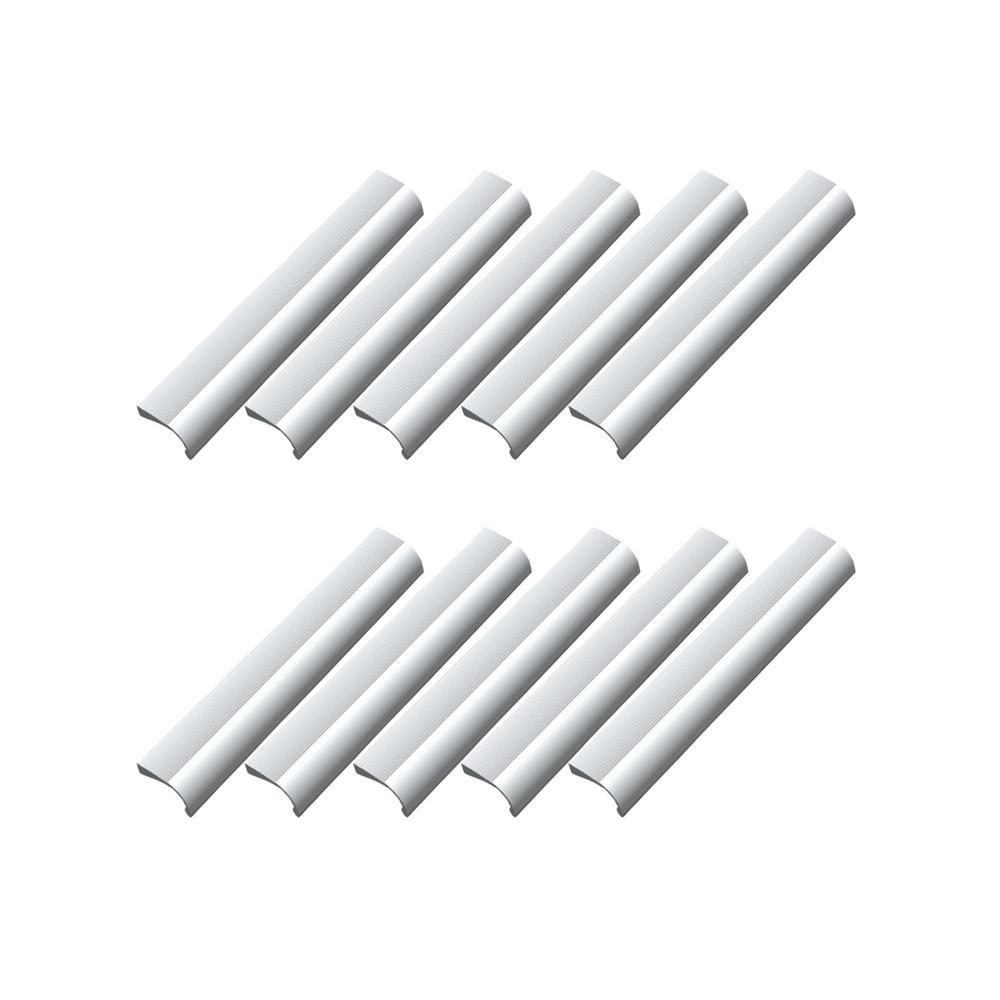 Cascade 6-5/16 in. Satin Aluminum Cabinet Hardware Pull Value Pack (10 per Pack)