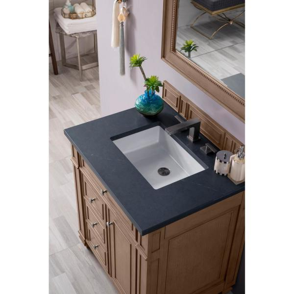 James Martin Vanities Bristol 30 In Single Vanity In Whitewashed Walnut With Quartz Vanity Top In Charcoal Soapstone With White Basin 157 V30 Ww 3csp The Home Depot