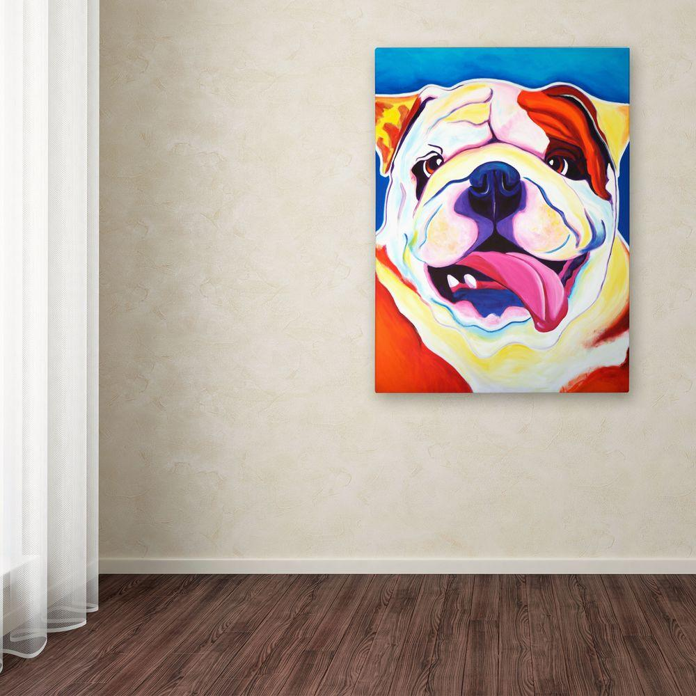 "24 in. x 18 in. ""Bully Grin"" by DawgArt Printed Canvas"