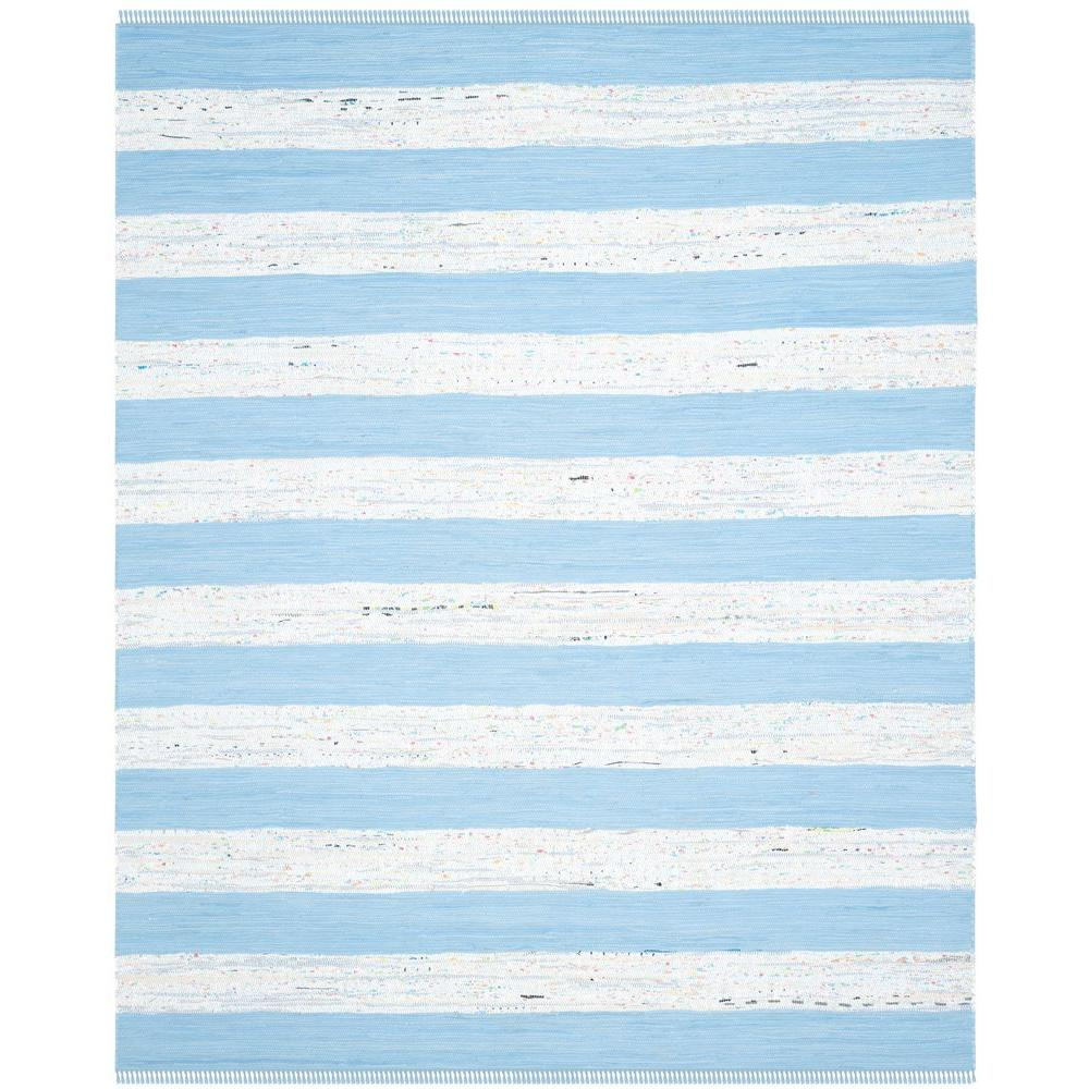 Safavieh Wyndham Turquoise Green 8 Ft X 10 Ft Area Rug: Safavieh Montauk Ivory/Turquoise 8 Ft. X 10 Ft. Area Rug
