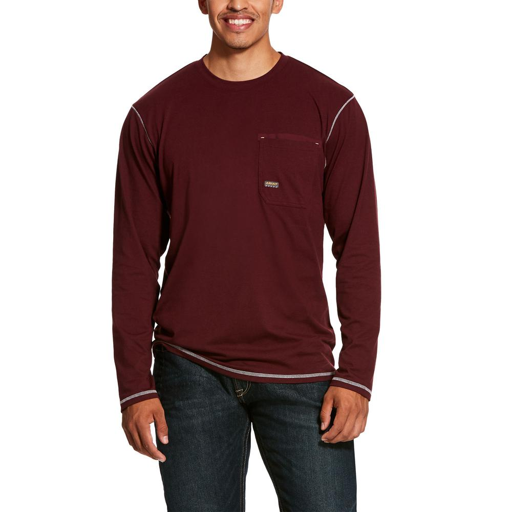 ca5bb45c73d5 Ariat Men's Size X-Large Tall Malbec Rebar Long Sleeve Work Shirt ...