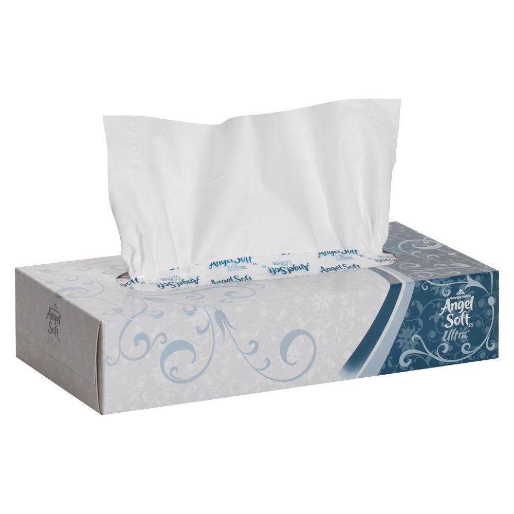 Angel Soft Ultra White Premium Facial Tissue (125 Sheets per Box)