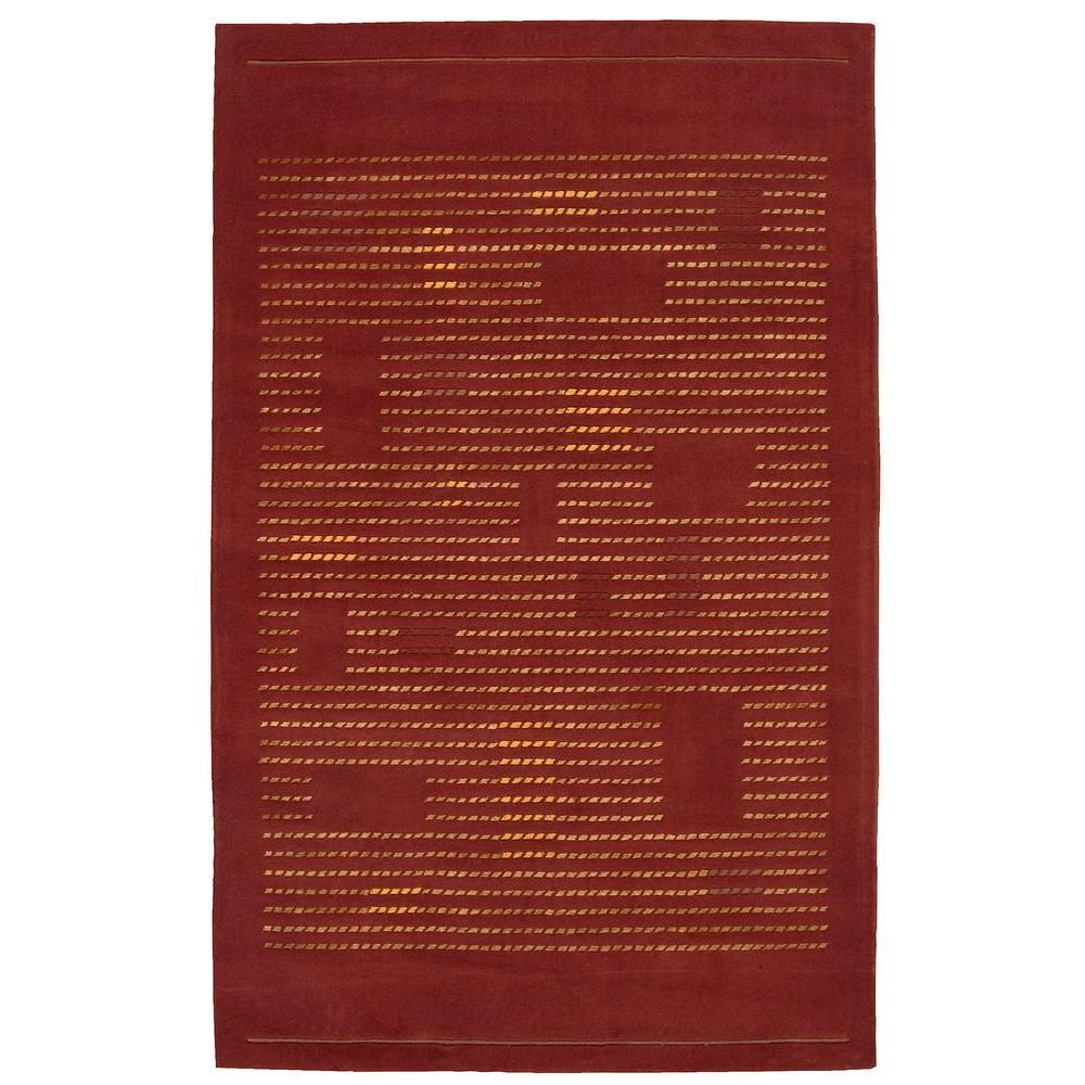 Nourison Overstock Spectrum Rust 5 ft. 3 in. x 8 ft. 3 in. Area Rug
